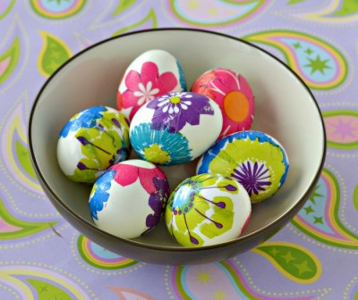 Kid Lab: How to Decoupage Easter Eggs