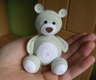 "Kid Lab: ""Quilled 3D Teddy bear"""