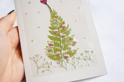 "Workshop ""Christmas postcards with pressed flowers"""