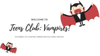 Клуб Для Подростков: Вампиры!