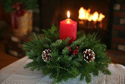 Kid Lab: Christmas candle centerpieces
