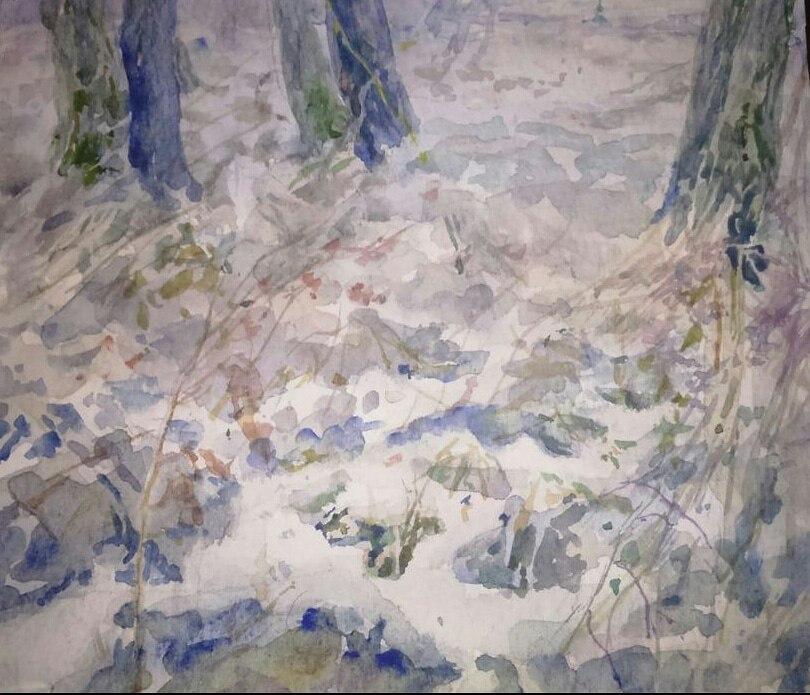 "Painting Workshop ""Footprints in the snow"""