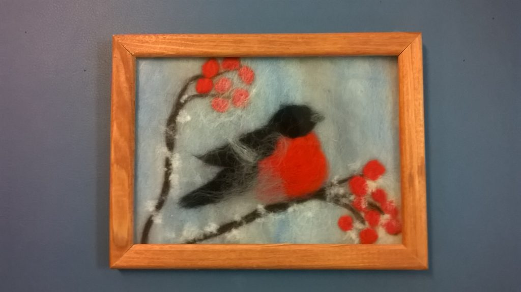 "Kid Lab: Wool painting ""Bullfinch"""