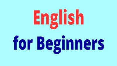 English lesson for beginners