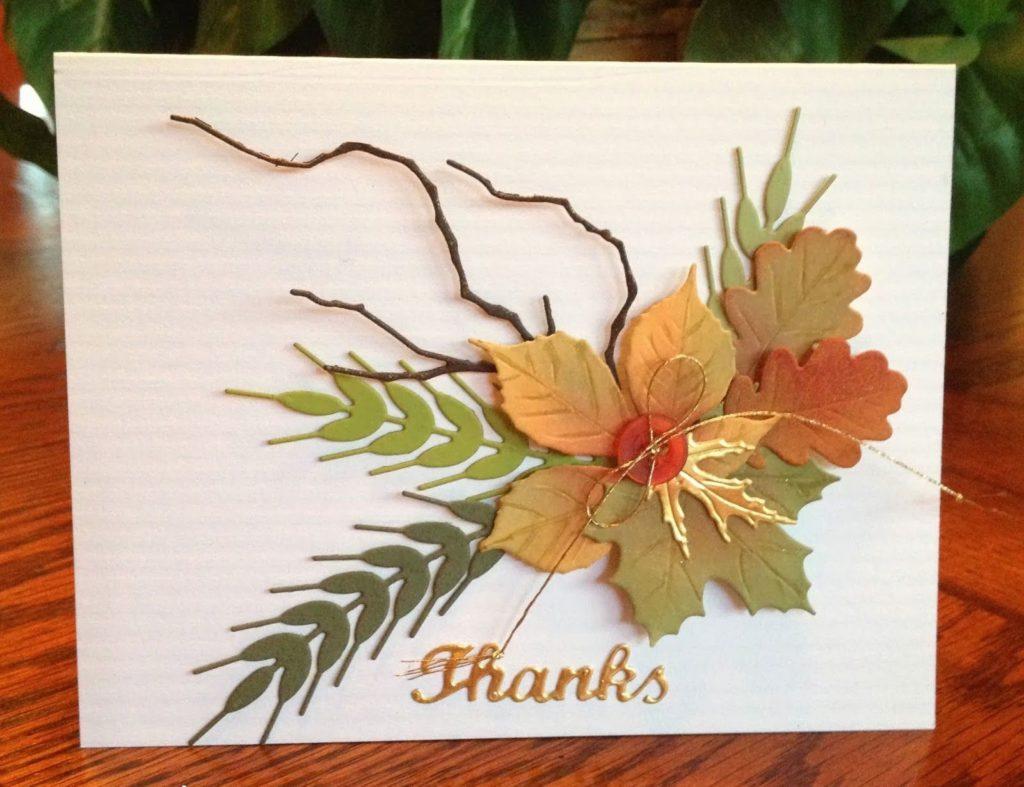 Как сделать листья для открыток, днем рождения открытки